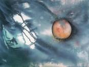 Lunar eclipse in Libra